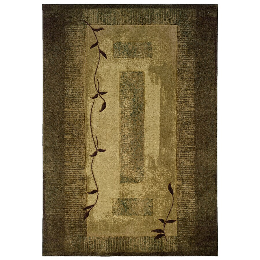 allen + roth Holder Green Rectangular Indoor Machine-Made Nature Area Rug (Common: 8 x 10; Actual: 7.83-ft W x 10.08-ft L x 0.0-ft Dia)
