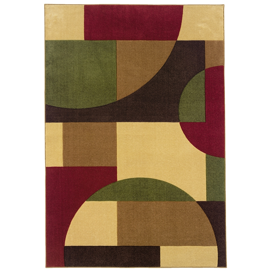 Oriental Weavers of America Hennessy Rectangular Multicolor Geometric Tufted Area Rug (Common: 4-ft x 6-ft; Actual: 3.91-ft x 5.91-ft)