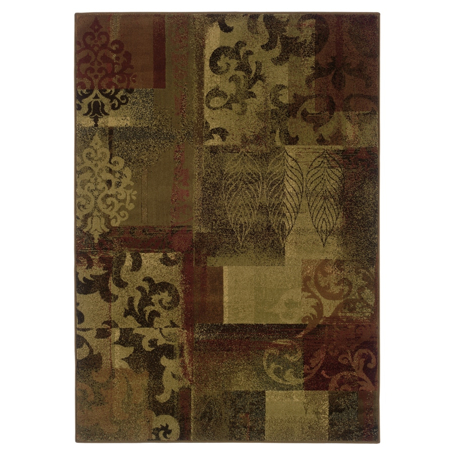 allen + roth Bodega Rectangular Red Floral Woven Area Rug (Common: 10-ft x 13-ft; Actual: 9.83-ft x 12.75-ft)