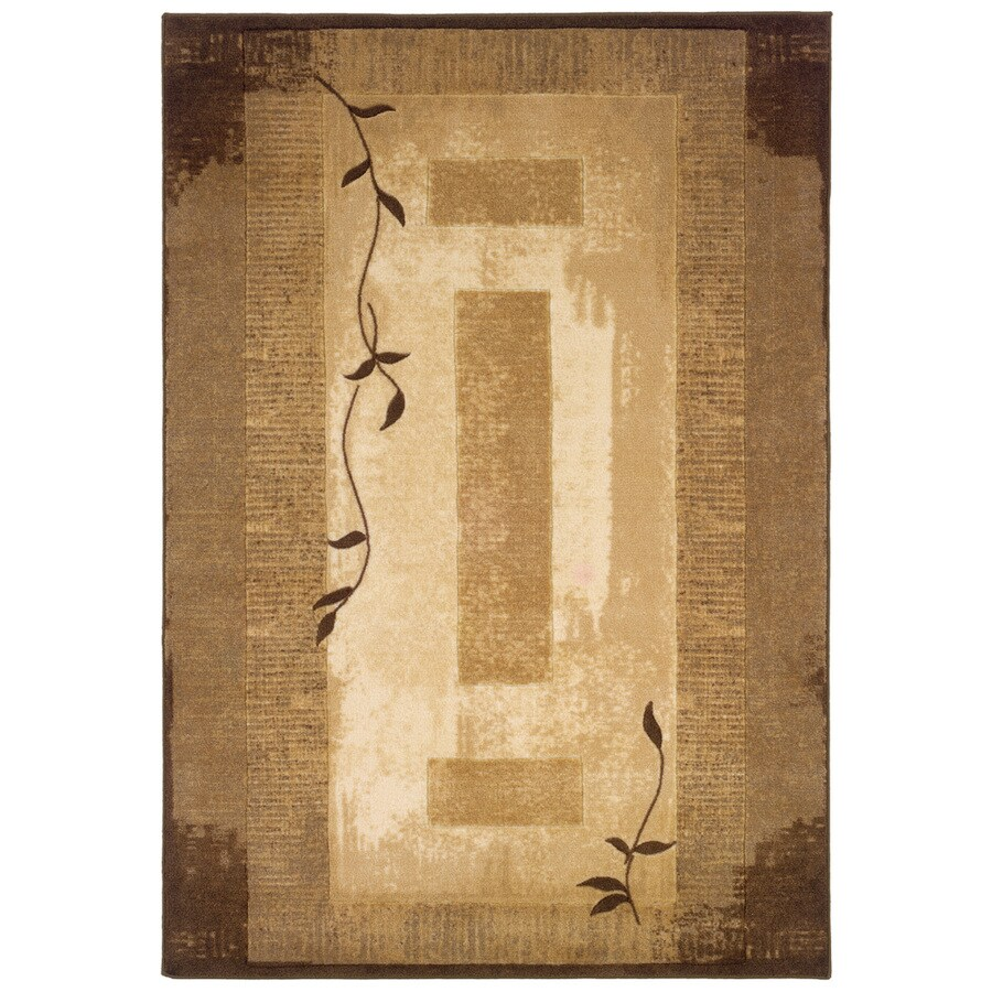 allen + roth Holder Neutral Rectangular Indoor Tufted Nature Area Rug (Common: 4 x 6; Actual: 3.83-ft W x 5.92-ft L)
