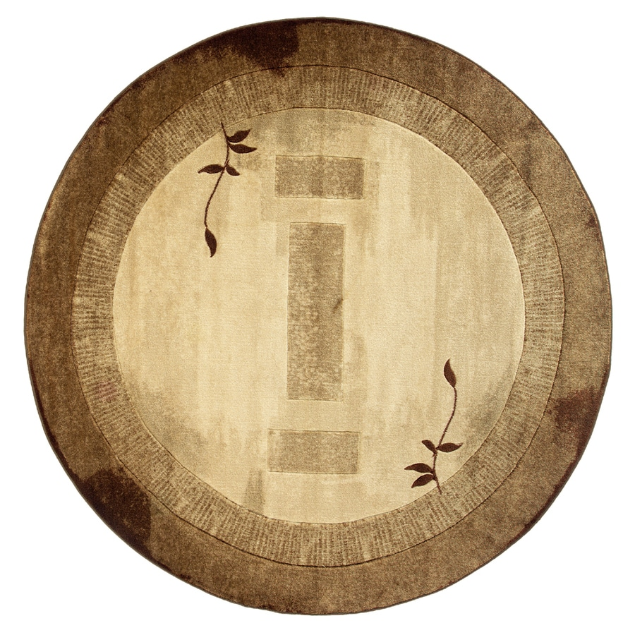 allen + roth Holder Neutral Round Indoor Tufted Nature Area Rug (Common: 8 x 8; Actual: 7.83-ft Dia)
