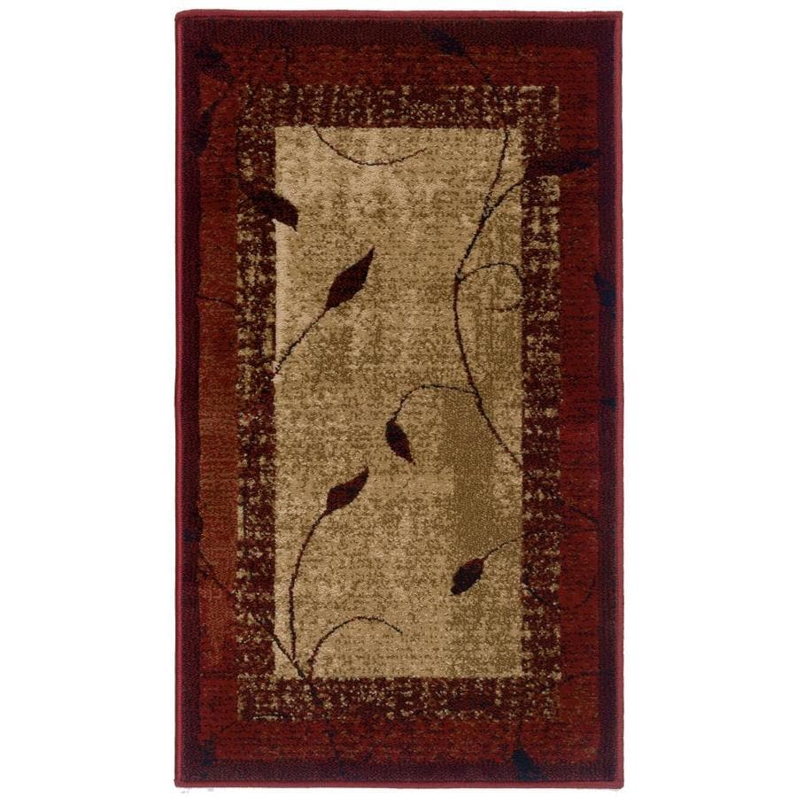 allen + roth Tinsley Red Rectangular Indoor Machine-Made Nature Throw Rug (Common: 2 x 3; Actual: 1.83-ft W x 3.25-ft L)