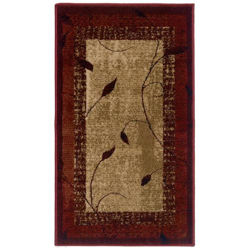 Allen Roth Tinsley Red Indoor Farmhouse Cottage Throw