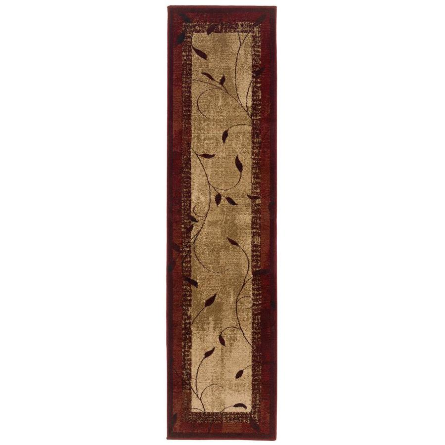 allen + roth Tinsley Red Rectangular Indoor Machine-Made Nature Runner (Common: 1.10 x 7.6; Actual: 1.83-ft W x 7.5-ft L)