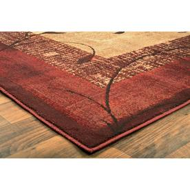 Allen Roth Tinsley Red Indoor Area Rug Common 8 X 11