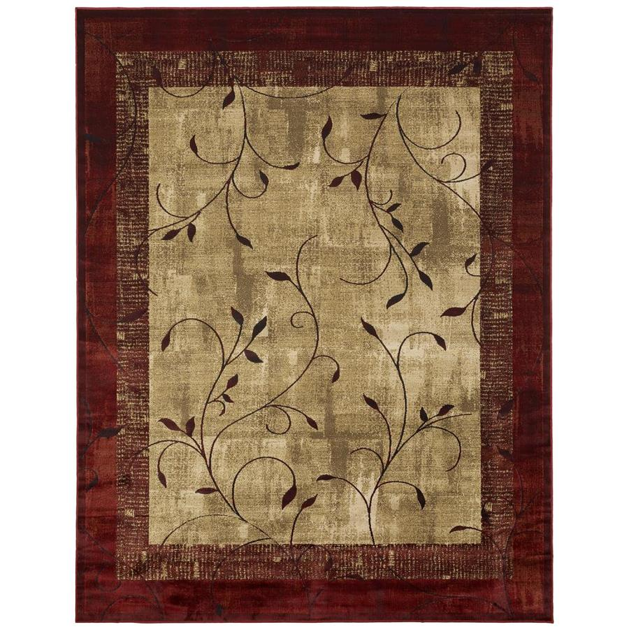 allen + roth Tinsley Red Rectangular Indoor Machine-Made Nature Area Rug (Common: 9 x 12; Actual: 9.83-ft W x 12.75-ft L)
