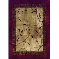 Allen Roth Tinsley Red Indoor Nature Area Rug