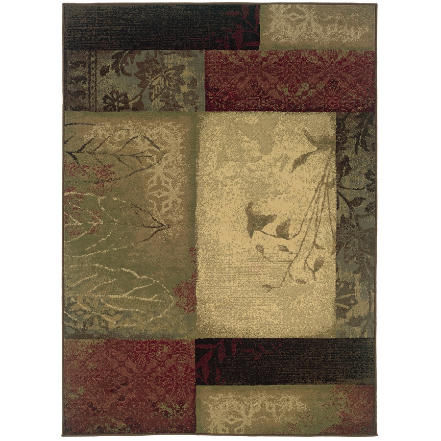 Oriental Weavers of America Bedford Multicolor Rectangular Indoor Woven Area Rug (Common: 5 x 8; Actual: 5.25-ft W x 7.5-ft L)