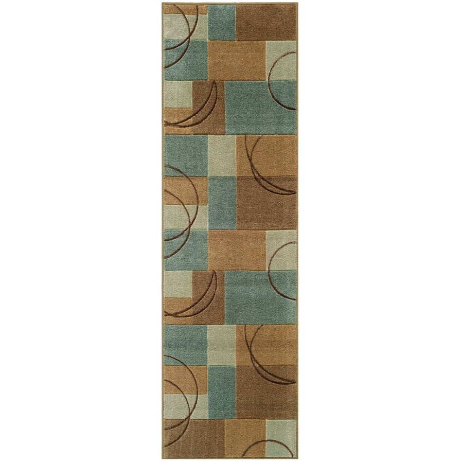 Oriental Weavers of America Luna Blue Rectangular Indoor Tufted Runner (Common: 2 x 8; Actual: 2.17-ft W x 7.5-ft L)
