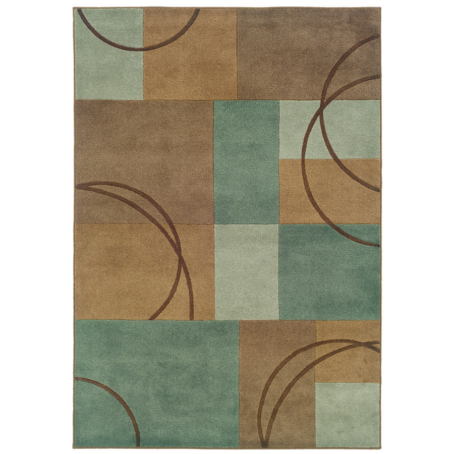 Oriental Weavers of America Luna Blue Rectangular Indoor Tufted Area Rug (Common: 8 x 10; Actual: 7.83-ft W x 10.08-ft L)