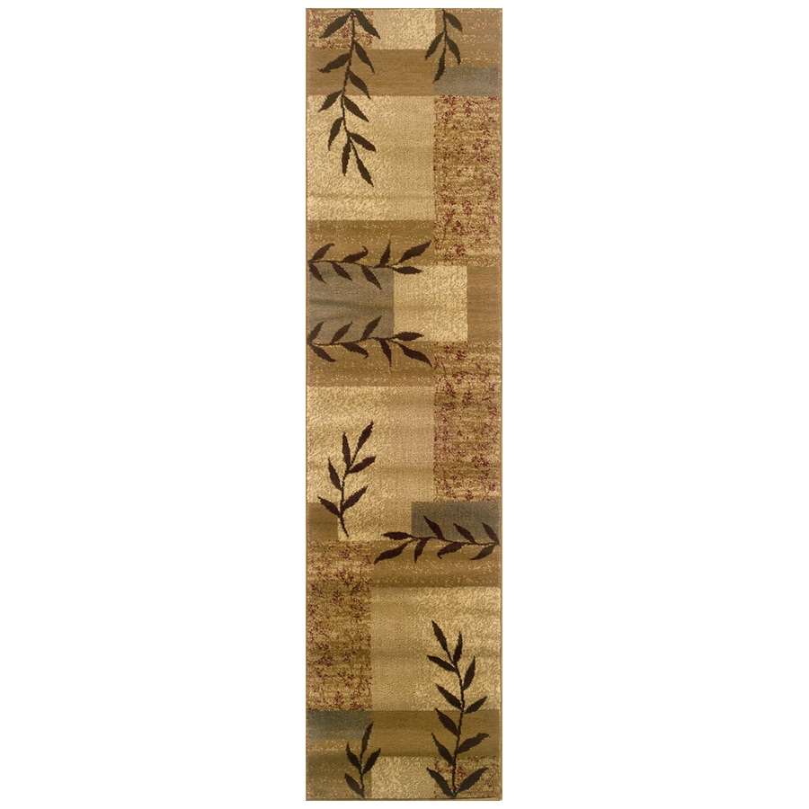 Sedia Home Vanessa Beige Rectangular Indoor Woven Nature Runner (Common: 2 x 8; Actual: 22-in W x 90-in L)