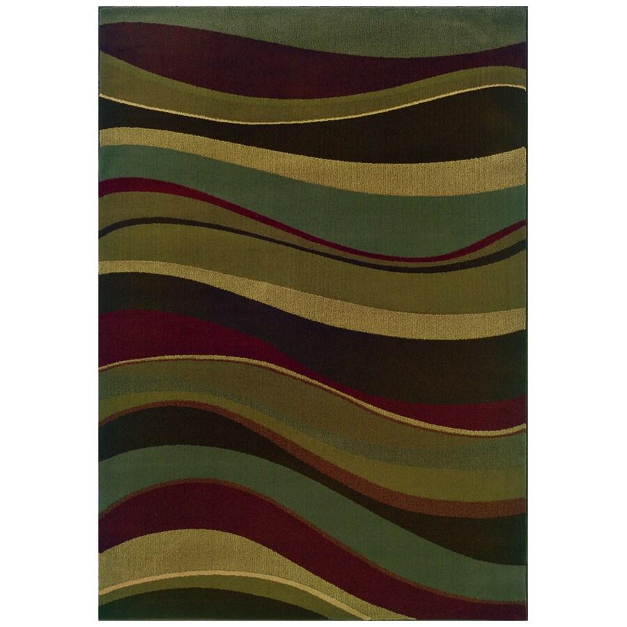 Sedia Home Parkway Multicolor Rectangular Indoor Woven Area Rug (Common: 8 x 10; Actual: 98-in W x 120-in L)