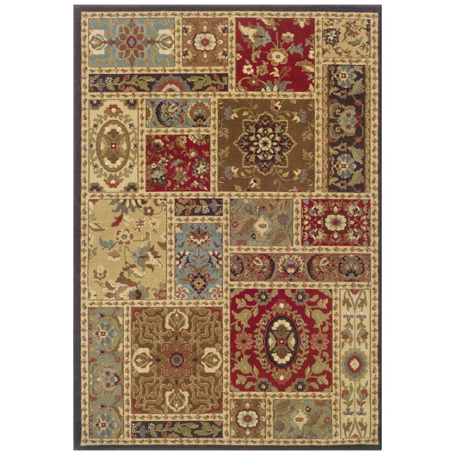 Sedia Home Taylor Rectangular Multicolor Transitional Woven Area Rug (Common: 4-ft x 6-ft; Actual: 3.166-ft x 5.416-ft)