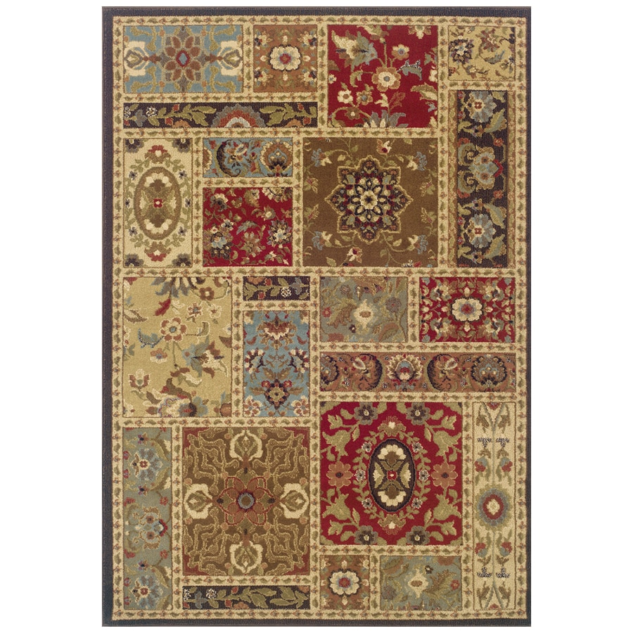 Sedia Home Taylor Multicolor Rectangular Indoor Woven Oriental Area Rug (Common: 8 x 10; Actual: 94-in W x 120-in L)