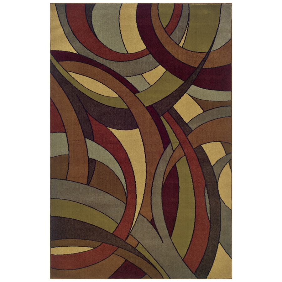 Sedia Home Evander Multicolor Rectangular Indoor Woven Oriental Area Rug (Common: 8 x 10; Actual: 94-in W x 120-in L)