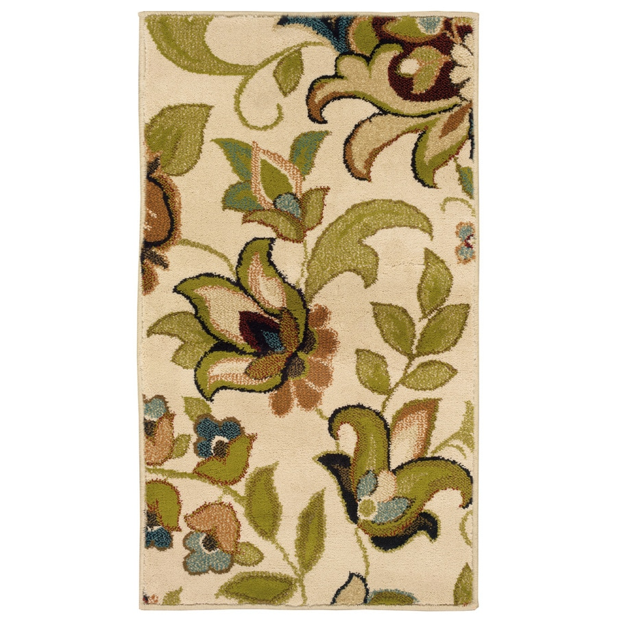 Oriental Weavers of America Isabella Ivory Rectangular Indoor Woven Nature Throw Rug (Common: 2 x 3; Actual: 1.83-ft W x 3.25-ft L)