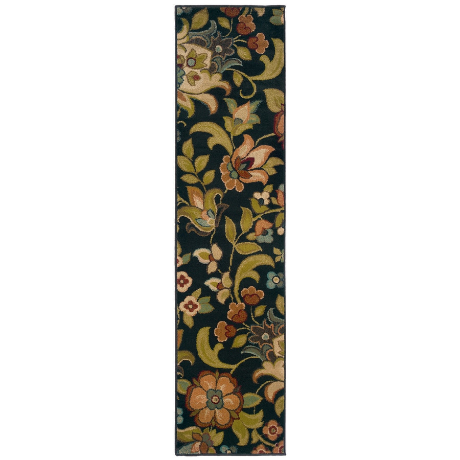 Oriental Weavers of America Isabella Black Rectangular Indoor Woven Nature Runner (Common: 2 x 8; Actual: 22-in W x 90-in L)