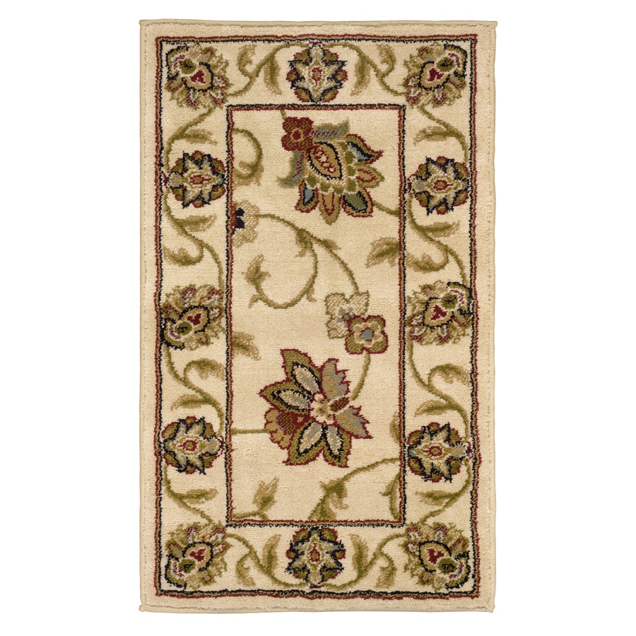 Oriental Weavers of America Addison Ivory Rectangular Indoor Machine-made Nature Throw Rug (Common: 2 x 4; Actual: 1.83-ft W x 3.25-ft L)