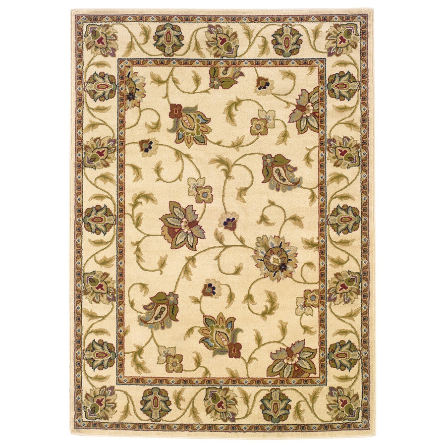 Oriental Weavers of America Addison Ivory Rectangular Indoor Woven Nature Area Rug (Common: 5 x 8; Actual: 5.25-ft W x 7.5-ft L)
