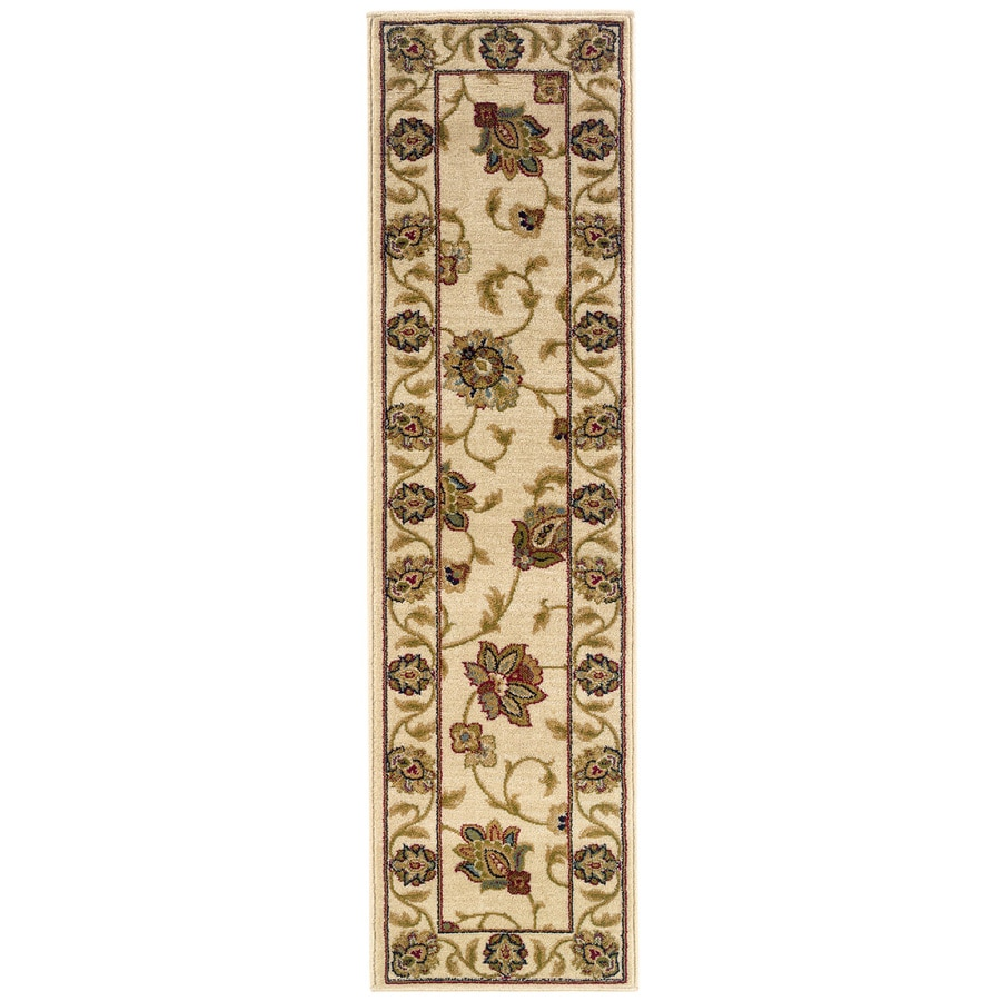 Oriental Weavers of America Addison Ivory Rectangular Indoor Machine-Made Nature Runner (Common: 2 x 8; Actual: 1.83-ft W x 7.5-ft L)