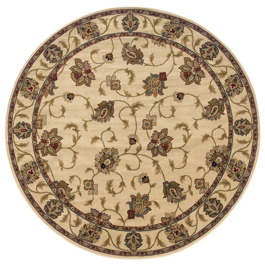 Oriental Weavers of America Addison Ivory Round Indoor Woven Nature Area Rug (Common: 8 x 8; Actual: 7.67-ft Dia)