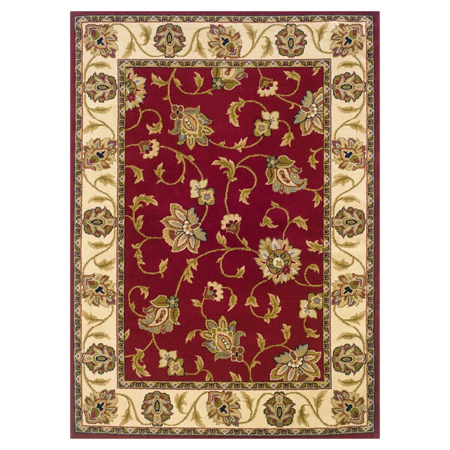 Oriental Weavers of America Addison Red Rectangular Indoor Woven Nature Area Rug (Common: 4 x 6; Actual: 3.83-ft W x 5.42-ft L)