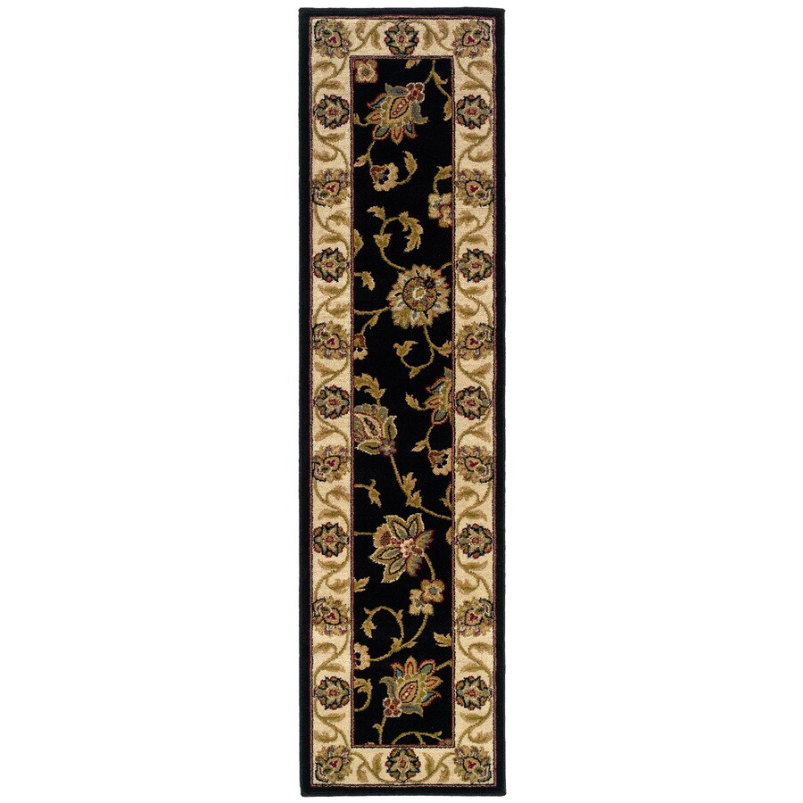 Oriental Weavers of America Addison Black Rectangular Indoor Woven Nature Runner (Common: 2 x 8; Actual: 1.83-ft W x 7.5-ft L)