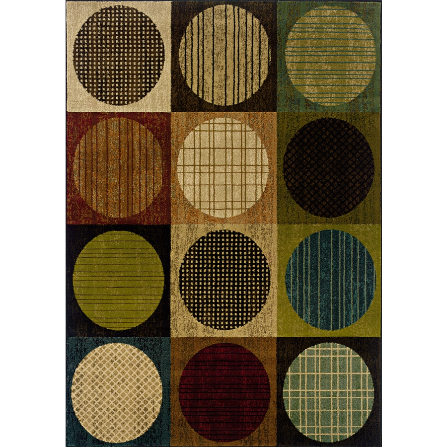 Oriental Weavers of America Dylan 7-ft 8-in x 10-ft 10-in Rectangular Multicolor Geometric Area Rug