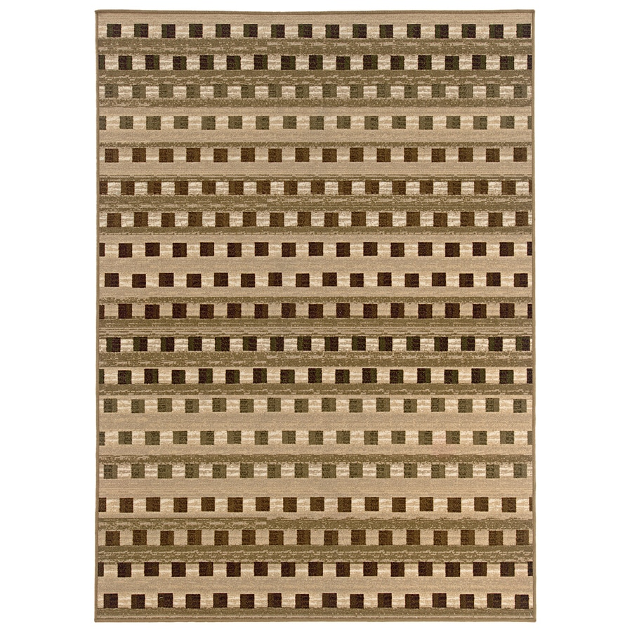 Style Selections Wexford 3-ft 10-in x 71-in Rectangular Beige Transitional Area Rug