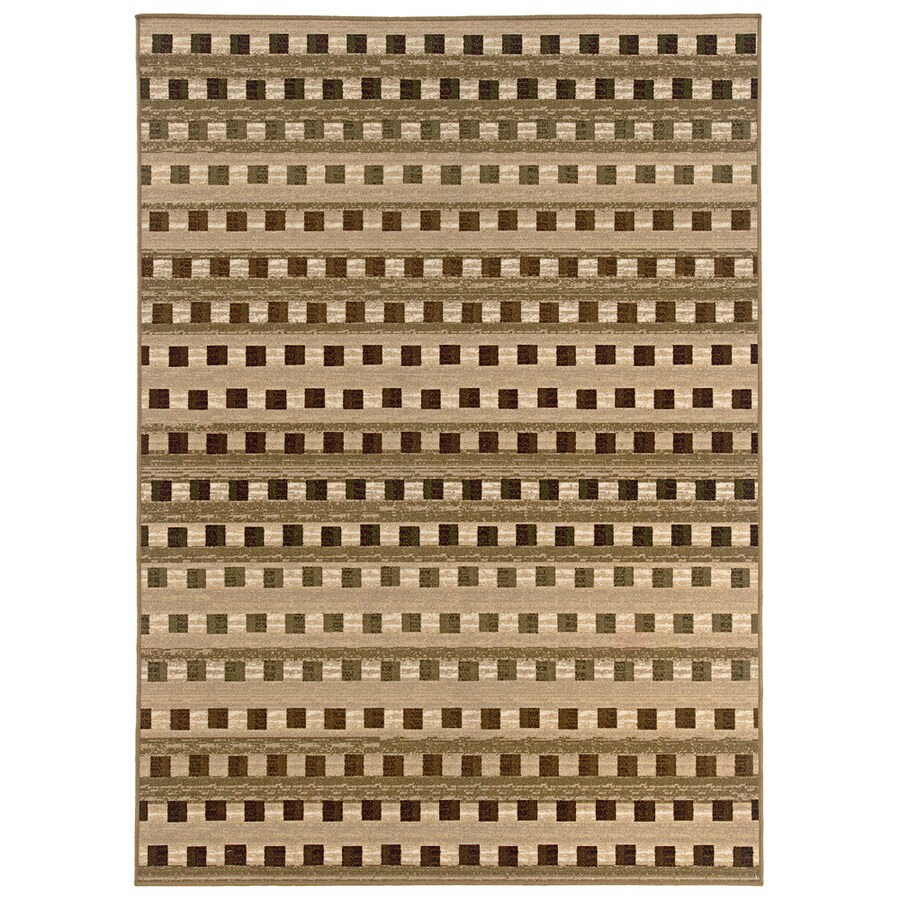 Style Selections Wexford 112-in x 13-ft 6-in Rectangular Beige Transitional Area Rug