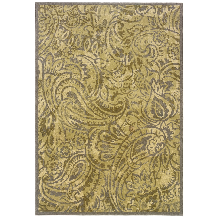 allen + roth Horsham 3-ft 10-in x 5-ft 5-in Rectangular Cream Transitional Area Rug
