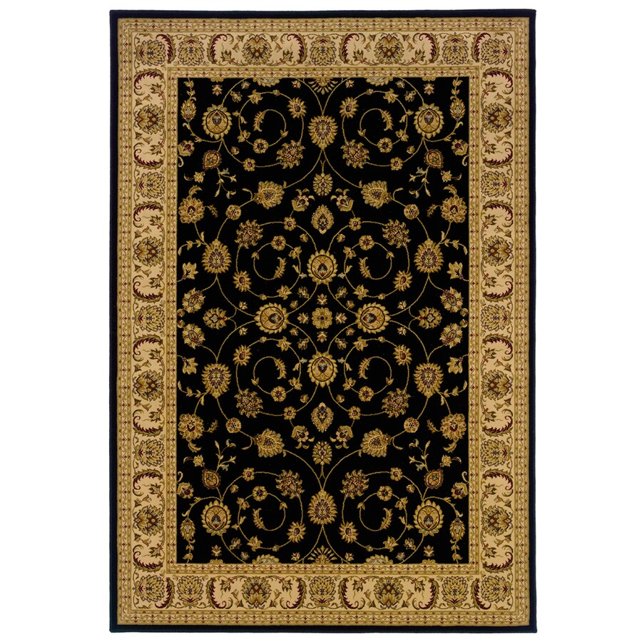 allen + roth Kennett 3-ft 10-in x 5-ft 5-in Rectangular Black Border Area Rug