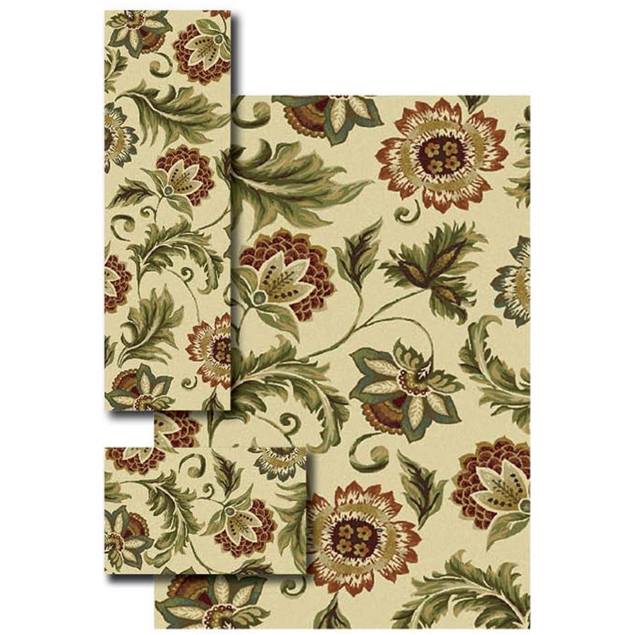 Oriental Weavers of America Brookshire 4-ft 11-in x 7-ft Rectangular Cream Floral Area Rug