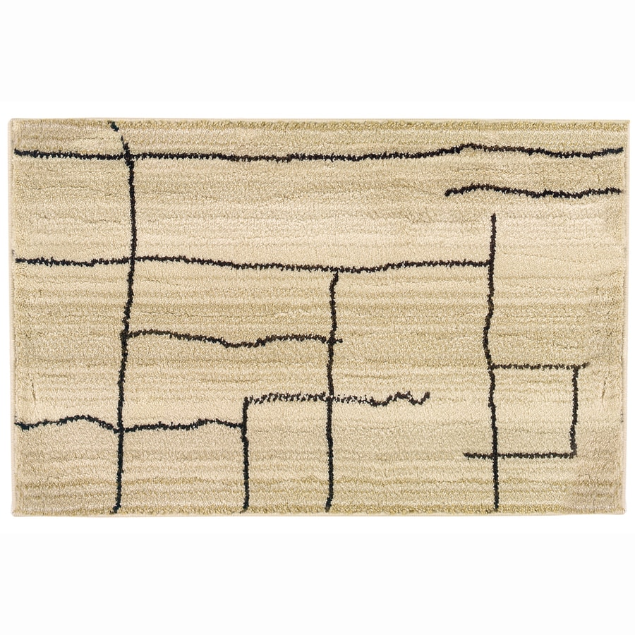 allen + roth Lamport Ivory Rectangular Indoor Machine-Made Moroccan Throw Rug (Common: 2 x 3; Actual: 1.83-ft W x 3.25-ft L)
