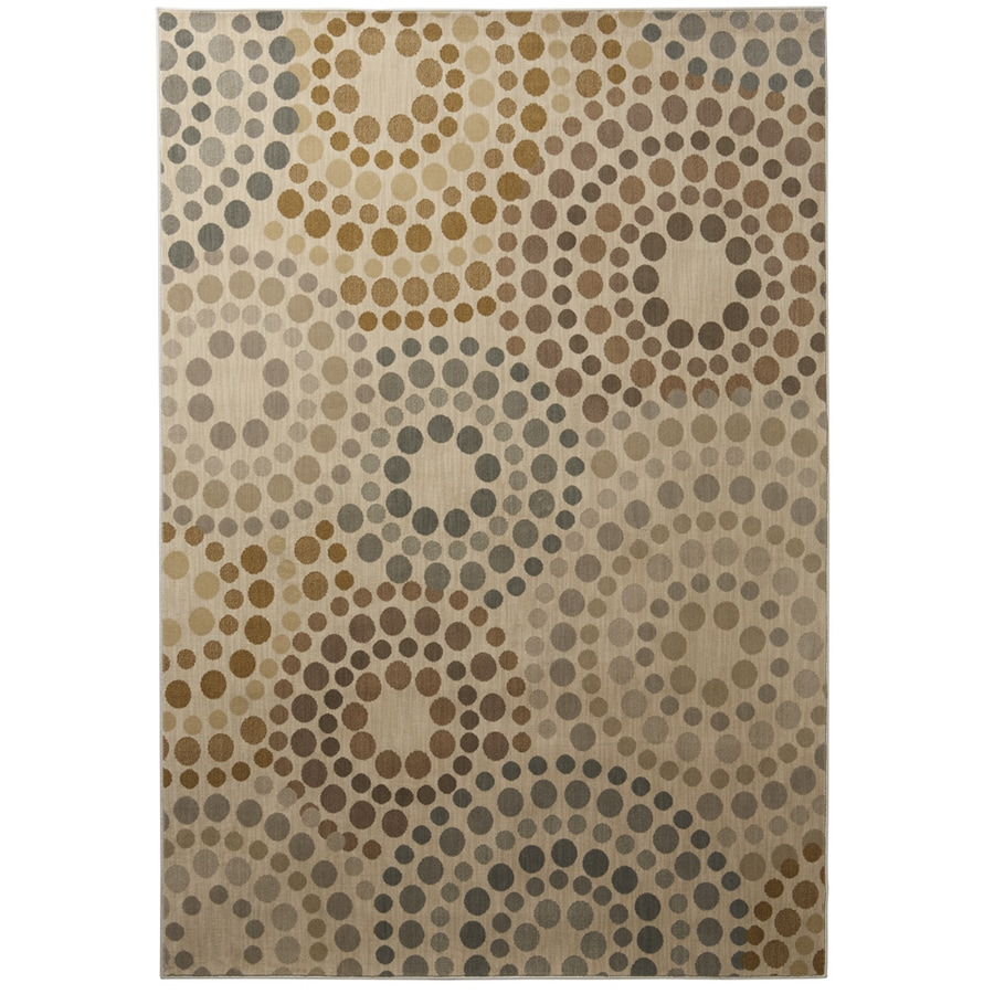 allen + roth Chantry Rectangular Cream Transitional Woven Area Rug (Common: 10-ft x 13-ft; Actual: 9.833-ft x 12.75-ft)