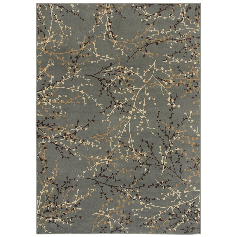 Oriental Weavers of America Berries Blue Rectangular Indoor Woven Nature Area Rug (Common: 8 x 11; Actual: 7.83-ft W x 10.83-ft L)