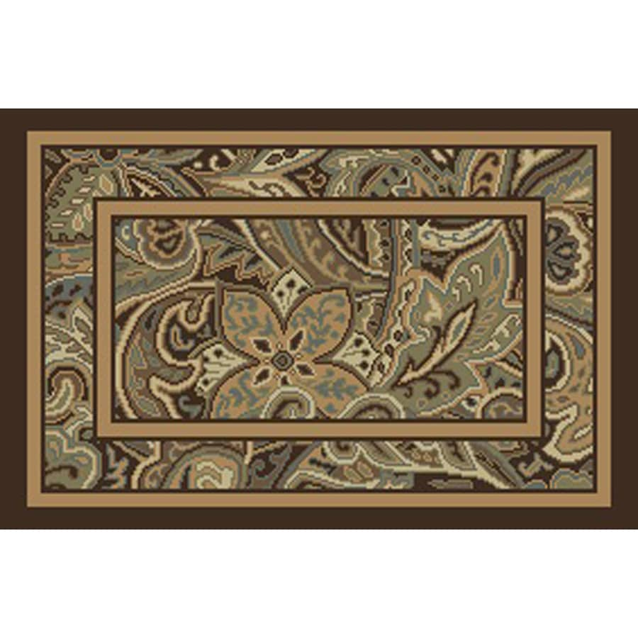Allen + Roth Paisley Park Multicolor Rectangular Indoor Machine Made Nature  Throw Rug (Common