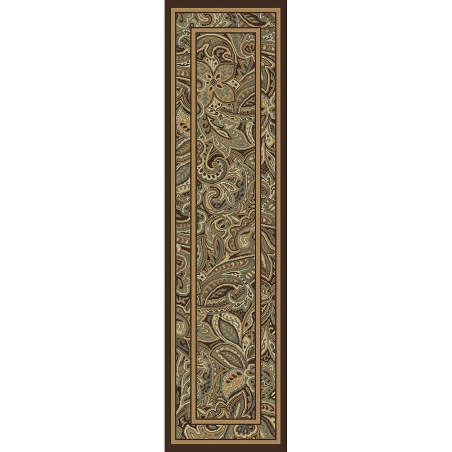 allen + roth Paisley Park Multicolor Rectangular Indoor Woven Nature Runner (Common: 2 x 8; Actual: 23-in W x 90-in L)