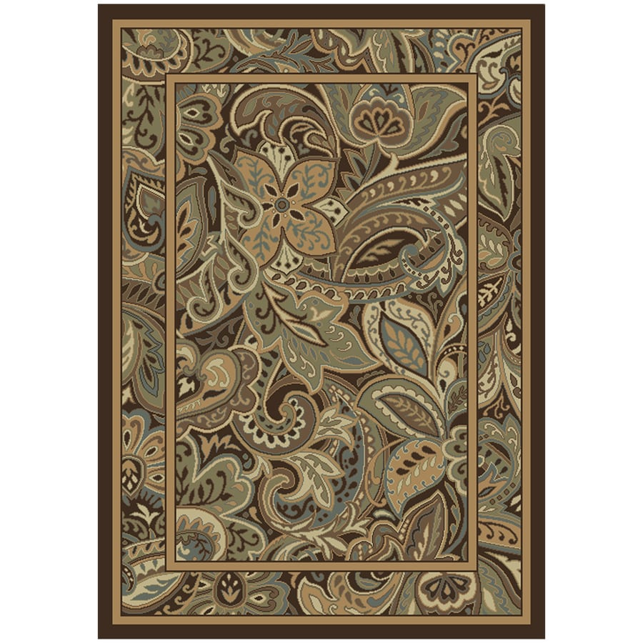 Allen + Roth Paisley Park Multicolor Rectangular Indoor Machine Made Nature Area  Rug (Common