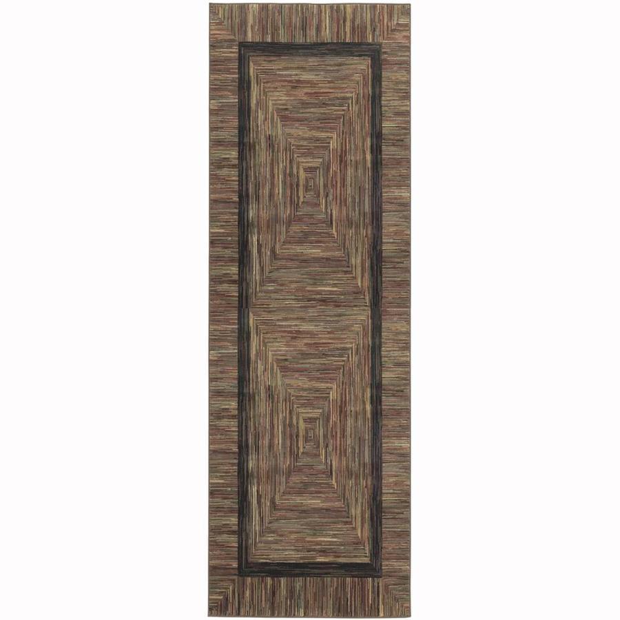allen + roth River Hills Multicolor Rectangular Indoor Woven Runner (Common: 3 x 8; Actual: 30-in W x 94-in L)