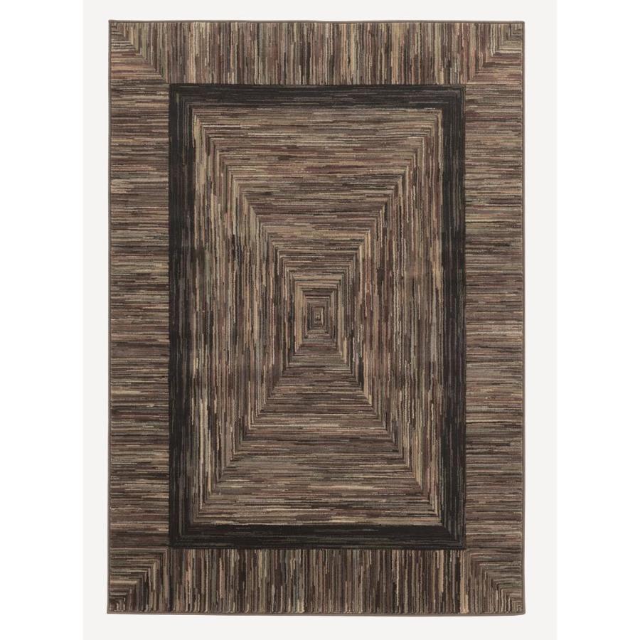 allen + roth River Hills Multicolor Rectangular Indoor Woven Area Rug (Common: 5 x 8; Actual: 5.42-ft W x 7.67-ft L)