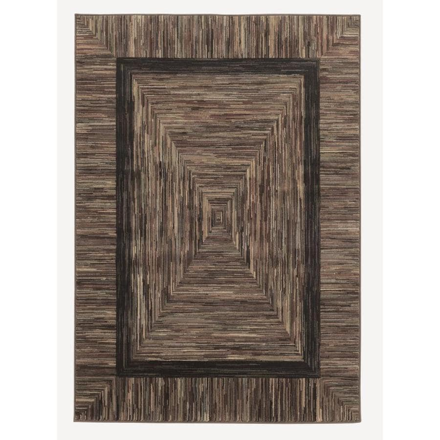 Allen Roth River Hills Multicolor Indoor Nature Area Rug
