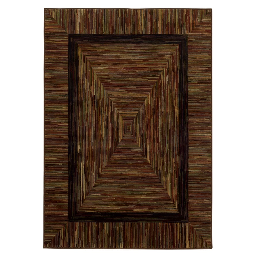 allen + roth River Hills Multicolor Rectangular Indoor Woven Area Rug (Common: 10 x 13; Actual: 9.25-ft W x 12.92-ft L)