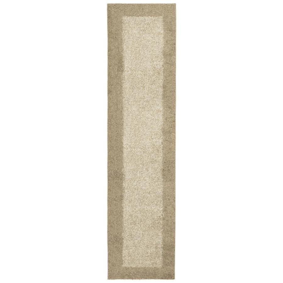 allen + roth Covenshire Beige Rectangular Indoor Machine-Made Oriental Runner (Common: 2 x 8; Actual: 1.83-ft W x 7.5-ft L)