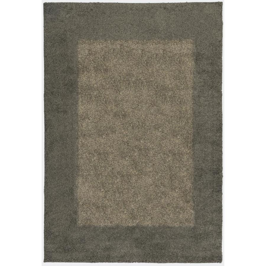 allen + roth Covenshire Gray Indoor Oriental Area Rug (Common: 4 x 6; Actual: 3.83-ft W x 5.42-ft L)