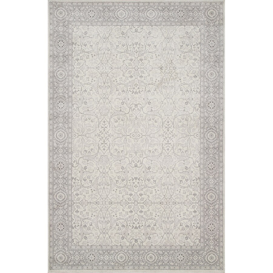 Oriental Weavers of America Mansfield Ivory Rectangular Indoor Woven Oriental Area Rug (Common: 8 x 11; Actual: 7.67-ft W x 10.83-ft L)