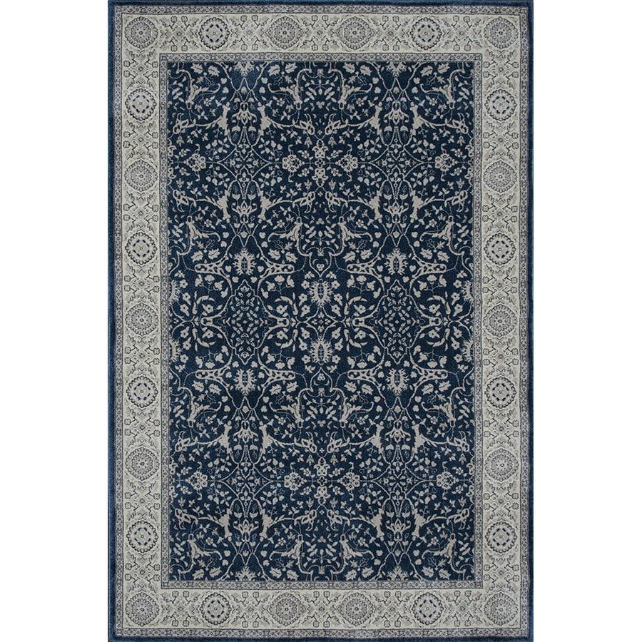 Oriental Weavers of America Mansfield Blue Rectangular Indoor Woven Oriental Area Rug (Common: 4 x 6; Actual: 46-in W x 65-in L)