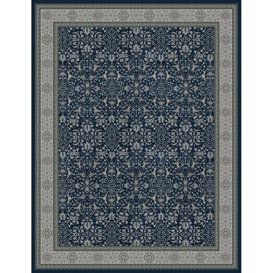 Oriental Weavers of America Mansfield Blue Rectangular Indoor Woven Oriental Area Rug (Common: 10 x 13; Actual: 118-in W x 153-in L)