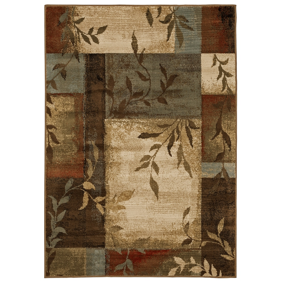 Oriental Weavers of America Harper Multicolor Rectangular Indoor Machine-Made Nature Area Rug (Common: 4 x 6; Actual: 3.83-ft W x 5.42-ft L)