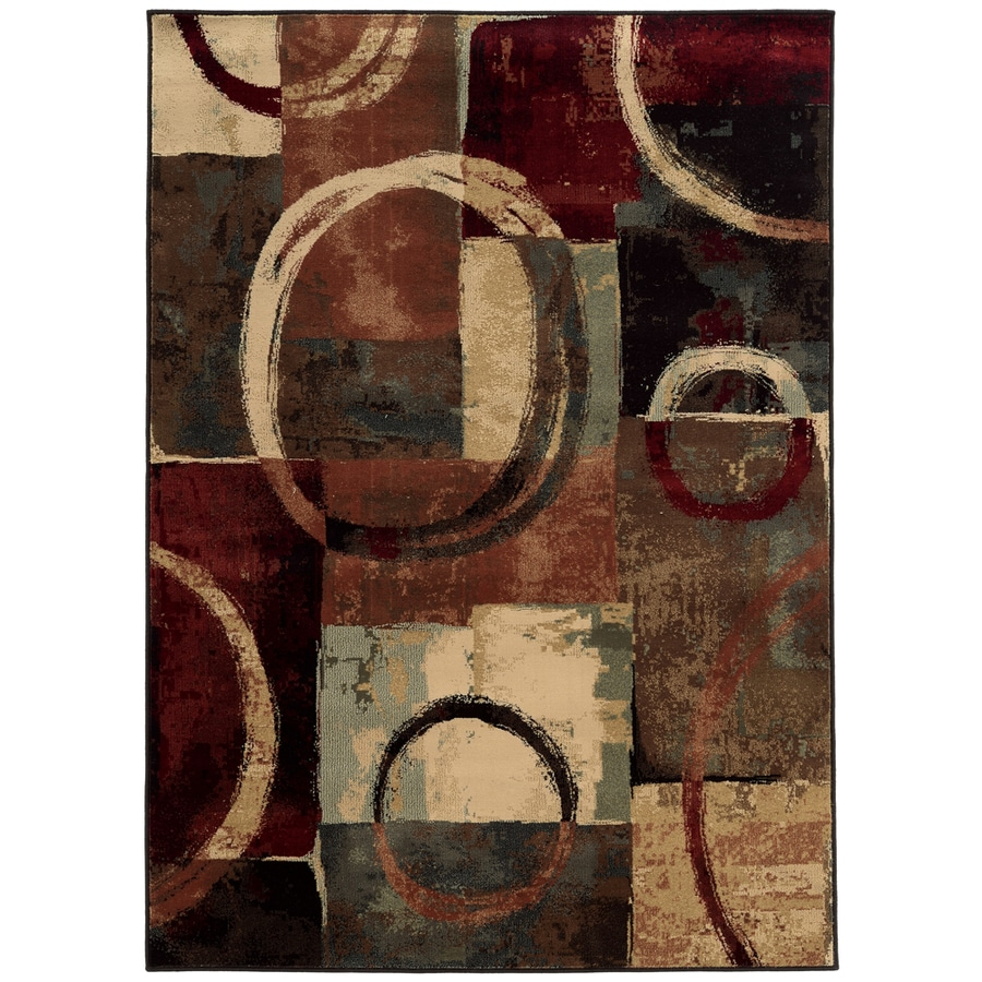 Oriental Weavers of America Sheridan Multicolor Rectangular Indoor Machine-Made Animals Area Rug (Common: 5 x 7; Actual: 5.25-ft W x 7.5-ft L)